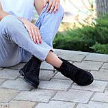 Зручні повсякденні жіночі чорні замшеві черевики натуральна замша, фото 3