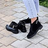 Зручні повсякденні жіночі чорні замшеві черевики натуральна замша, фото 4