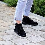 Зручні повсякденні жіночі чорні замшеві черевики натуральна замша, фото 6