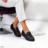 Актуальні чорні шкіряні жіночі туфлі мокасини натуральна шкіра 38-24,5 см, фото 5