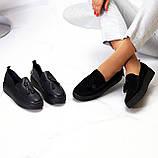 Актуальні чорні шкіряні жіночі туфлі мокасини натуральна шкіра 38-24,5 см, фото 7