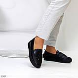 Актуальні чорні шкіряні жіночі туфлі мокасини натуральна шкіра 38-24,5 см, фото 9