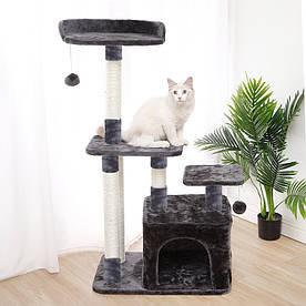 Когтеточка-будиночок для кота Taotaopets 045513 Сірий (6285-21192)