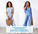 """Летний женский костюм с широкими брюками """"Ясмин""""  Норма и батал, фото 4"""