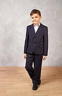 Пиджак для мальчика школьный синий, школьная форма для мальчиков, пиджак школьный для мальчика