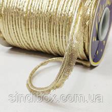 Лента кант-парча для шитья, цвет золотой (СИНДТЕКС-1290)