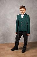 Пиджак для мальчика школьный зеленый, школьная форма, пиджак в школу, классический пиджак
