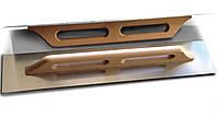 Тёрка нержавеющая с деревянной ручкой HT tool130х380 мм