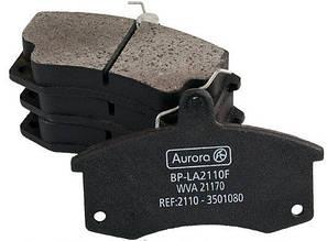 Колодка передняя дискового тормоза ВАЗ 2110 2111 2112 2113 2115 Aurora