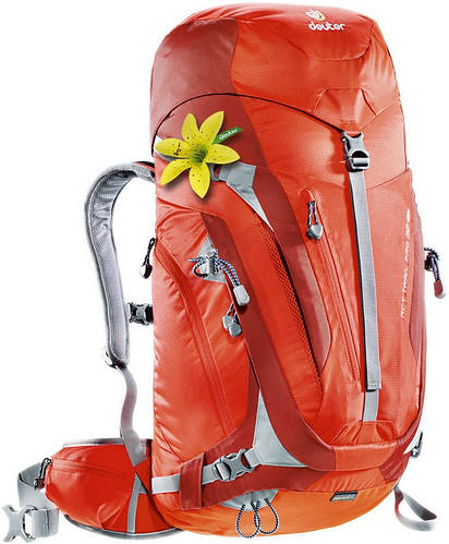 Женский удобный треккинговый рюкзак DEUTER ACT Trail PRO 32 SL 3441015 9503 оранжевый