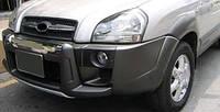 Накладка на передний бампер (пластик)  Hyundai Tucson 2004-