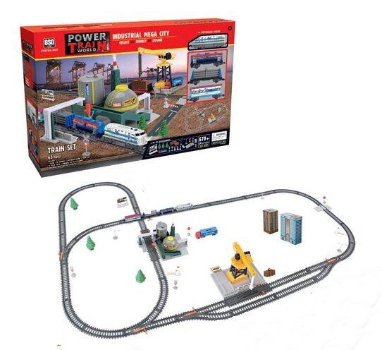 Залізниця (світло, звук, 61 елемент, довжина шляхів 670см, вагон заповнюється водою) 2087
