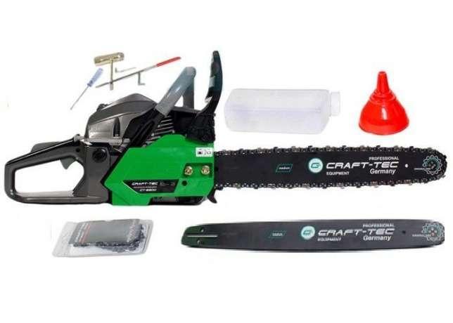 Бензопила Craft-Tec CT-5600 ( 2 шины + 2 цепи )