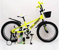 """Велосипед дитячий 20 """"D-JEEP"""" салатовий Збірка 85%"""