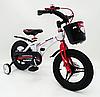 Детский двухколесный велосипед MARS-14 колеса 14 дюймов магнезиевая рама белый