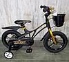Велосипед двухколесный детский 14-GALAXY Black колеса 14 дюймов дисковые тормоза рама магний черный