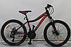 """Велосипед спортивный горный Crosser Stream 26 колеса 26 дюймов рама алюминий 16"""" черно-красный"""