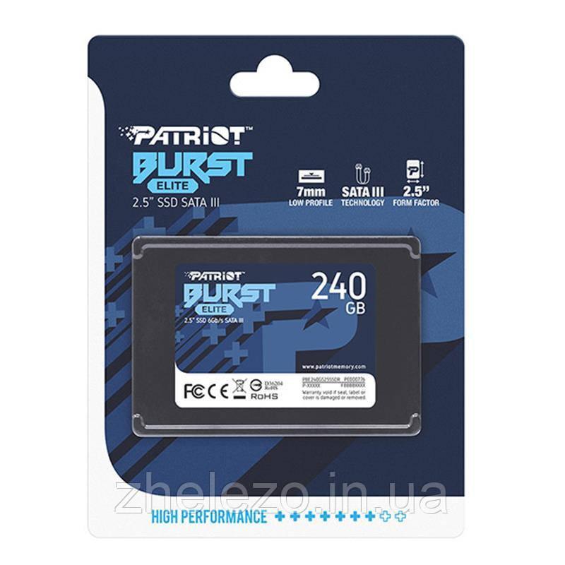 "Накопичувач SSD 2.5"" 240GB Burst Elite Patriot (PBE240GS25SSDR)"