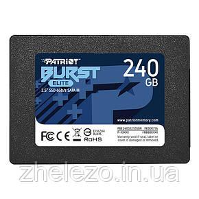 """Накопичувач SSD 2.5"""" 240GB Burst Elite Patriot (PBE240GS25SSDR), фото 2"""