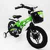 Велосипед двухколесный детский MARS-14 дисковый тормоз колеса 14 дюймов зеленый