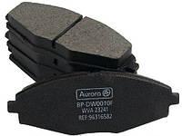 Колодка передняя дискового тормоза Шевроле Авео Chevrolet Aveo 1.5 96534653 Аврора
