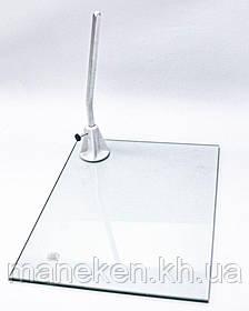 """Підставка скляна TREMVERY """"Сиваян"""" прямокутна зі штирем."""
