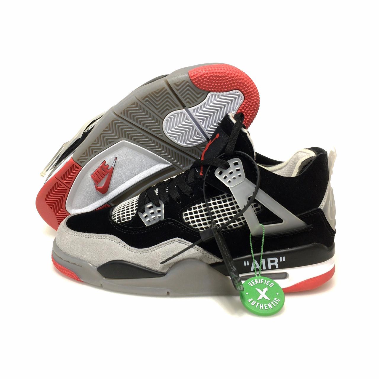 Мужские баскетбольные кроссовки Off-White x Air Jordan 4 retro