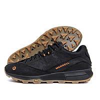 Мужские стильные осенние кожаные кроссовки  MERRELL Black