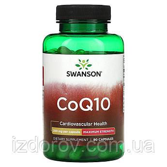 Swanson, Коензим Q10 200 мг, Ultra CoQ10, для здоров'я серця, 90 капсул