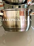 Набор кастрюль из нержавеющей стали German Family GF-2026 Кастрюли с крышками для дома и кухни, фото 10