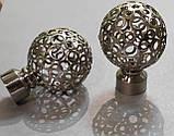 Карниз для штор металевий САВОНА подвійний 19+19 мм 2.4 м Сталь, фото 2