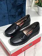Туфли женские черные Doren 20126-000-siyah, фото 2