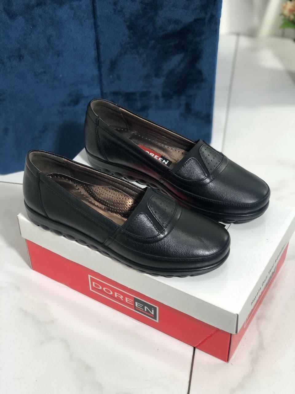 Туфли женские черные Doren 20126-000-siyah