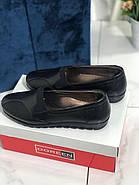 Туфли женские черные Doren 20135-000-siyah, фото 2