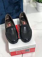 Туфли женские черные Doren 20135-000-siyah, фото 4