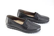Туфли женские черные Doren 20135-000-siyah, фото 5