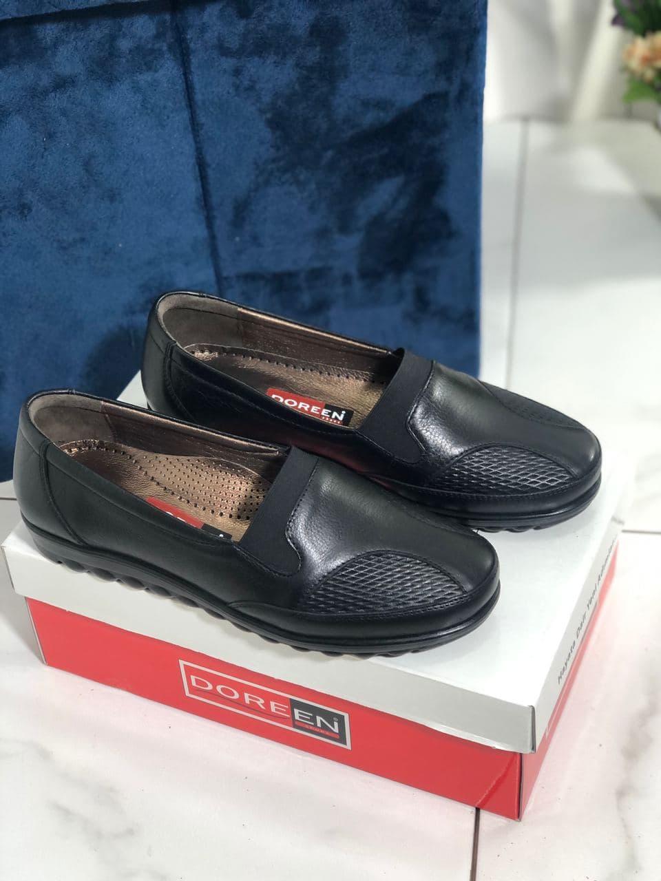 Туфли женские черные Doren 20135-000-siyah