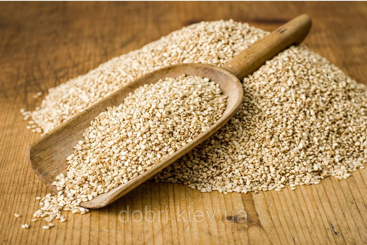 Семена неочищеного кунжута, обезжиренного (жмых). Кальций и калий в живой структуре, 600 г.
