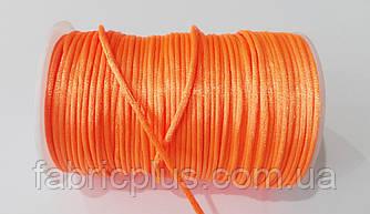 Шнур атласный корсетный 2.5 мм оранжевый неон