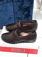 Туфлі жіночі коричневі Doren 20156-005-kahve, фото 2