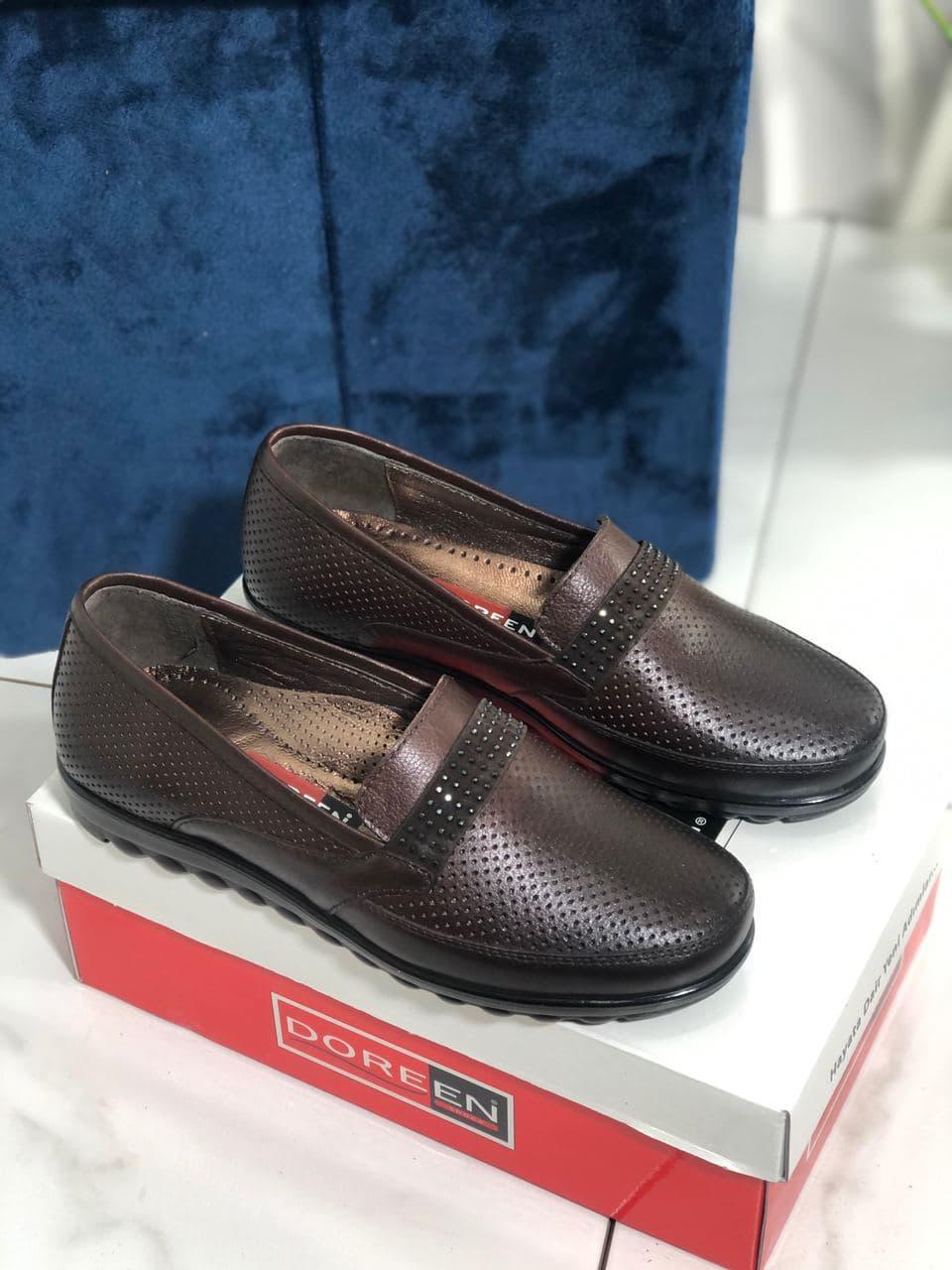 Туфлі жіночі коричневі Doren 20156-005-kahve
