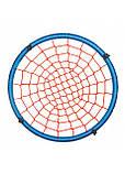 Качеля гнездо для дачи сада террасы подвесная регулируемая Springos 120 см Нейлон Голубой (NS007), фото 4