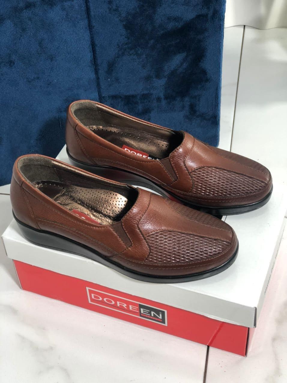 Туфли женские коричневые Doren 20190-000-Taba