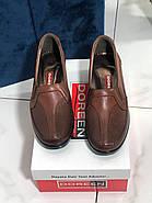 Туфли женские коричневые Doren 20190-000-Taba, фото 3