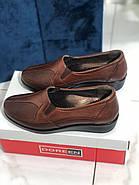 Туфли женские коричневые Doren 20190-000-Taba, фото 2