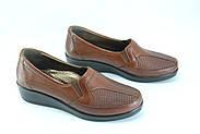 Туфли женские коричневые Doren 20190-000-Taba, фото 5
