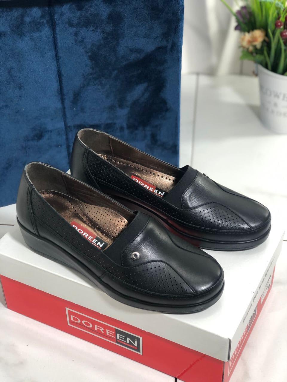Туфли женские черные Doren 20191-000-siyah