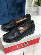 Туфли женские черные Doren 20191-000-siyah, фото 2