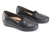 Туфли женские черные Doren 20191-000-siyah, фото 4