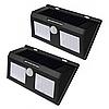 Вуличний LED ліхтарик на сонячній батареї з датчиком руху Premium P-818 комплект - 2 шт